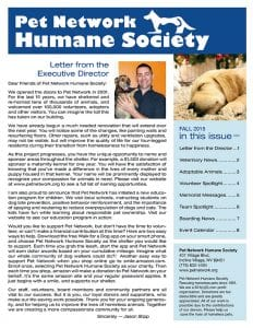 2015 Pet Network Fall Newsletter