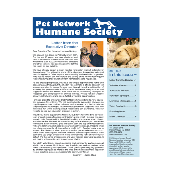 2015 Fall Pet Network Newsletter