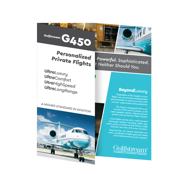 G450 Brochure Cover
