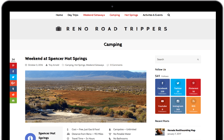 Reno Road Trippers Website