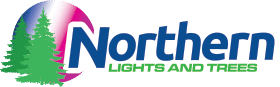 Northern Lights & Trees Logo