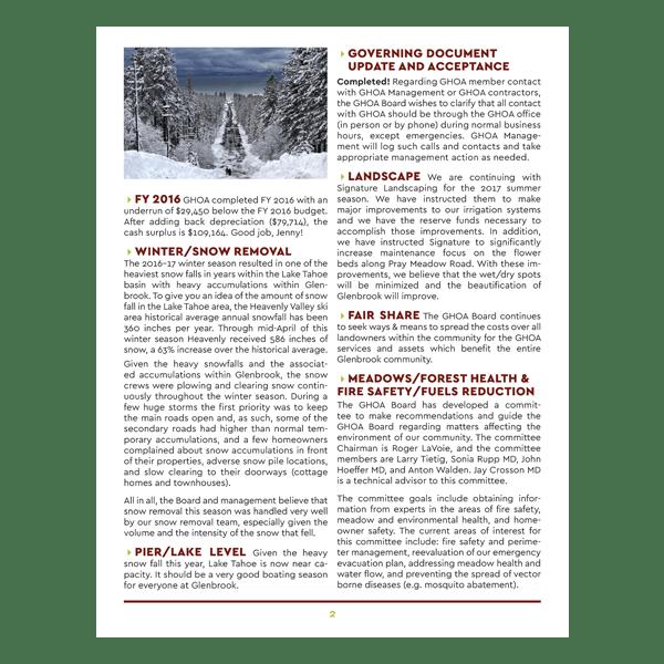 p2 Glenbrook HOA Newsletter